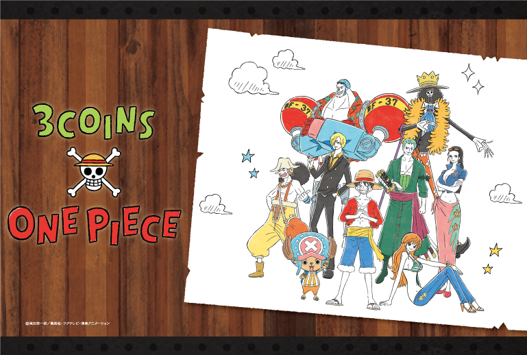 3COINS × ONE PIECE